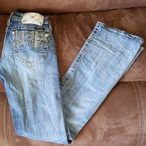 Miss Me Bling boot jeans 26/33 EUC